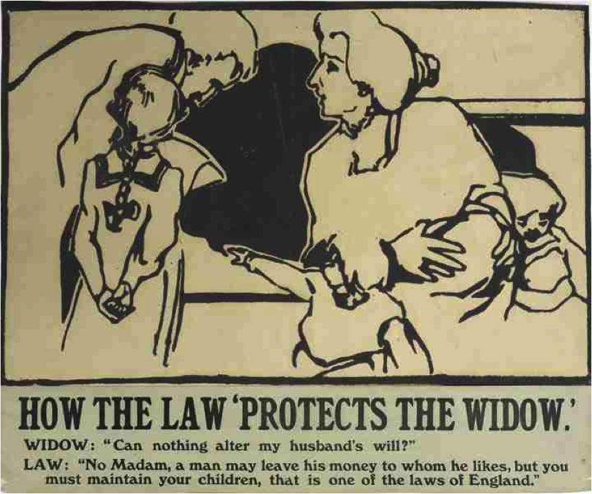 "Suffrage Atelier. ""How the Law 'Protects the Widow'"" (1909)"